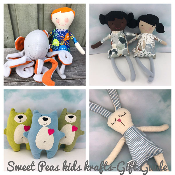 Handcrafted custom dolls, Christmas gift ideas for kids made on Vancouver Island