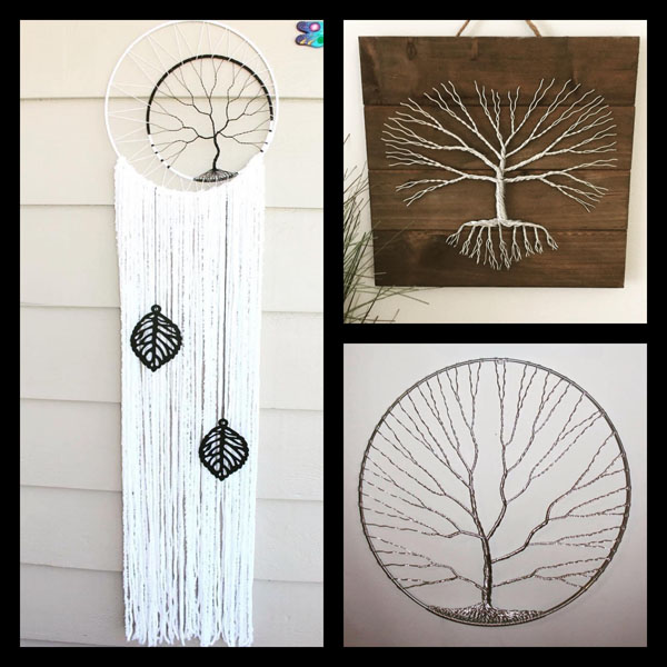 Canadian made Christmas gift idea, wire art and dreamcatchers