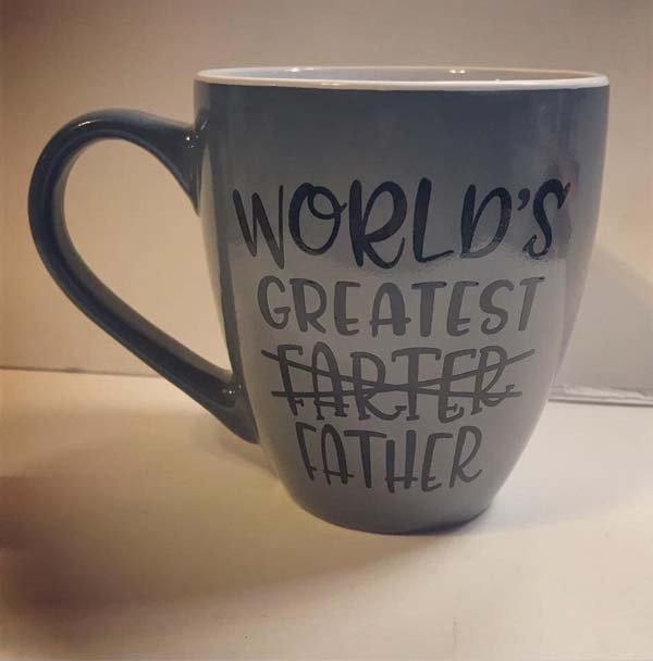 World's Greatest Farter mug, Fathers Day gift idea handmade on Vancouver Island