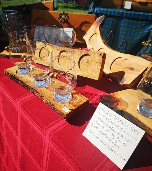 hardwood whiskey and beer tasting sets handmade on Vancouver Island by Longview Woodworks