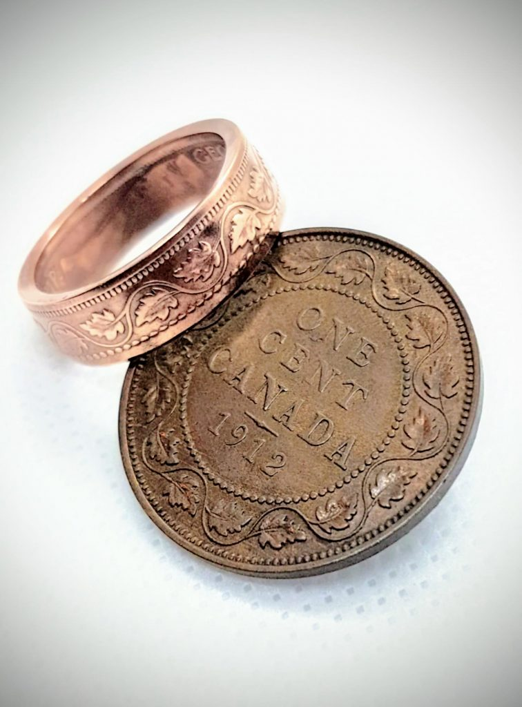 custom coin rings and pendants, Canadian made mothers day gift ideas
