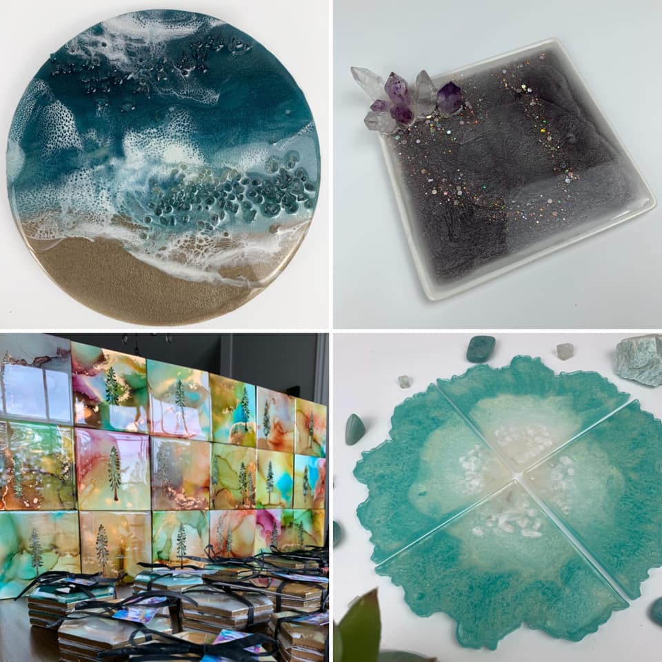 resin artwork, vancouver island artist, Canadian made gift ideas
