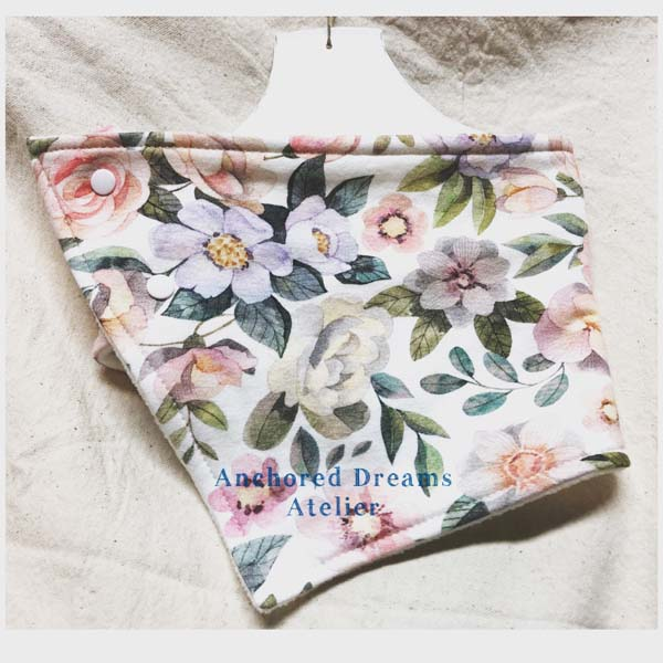 flower neckwarmer, product made in Canada on Vancouver Island