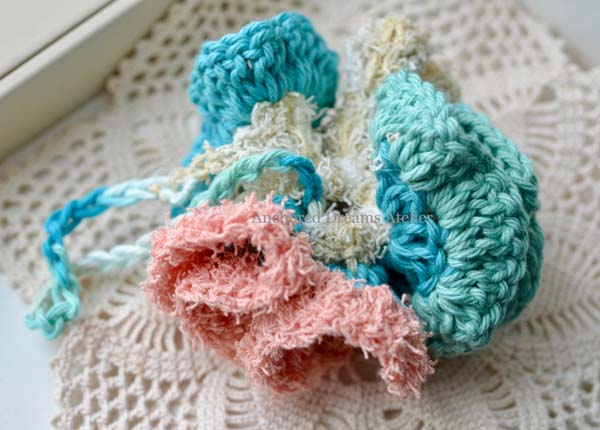 knitted wool loofah, product made on Vancouver Island in Courtenay, Canada