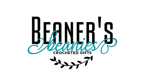 Beaner's Beanies logo, handmade crocheted products on Vancouver Island