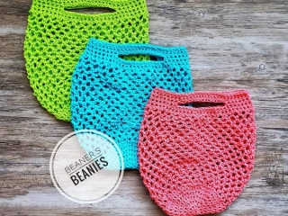 stocking stuffer ideas made on Vancouver Island crocheted reusable produce bags to cut back on single use plastics handmade by Beaners Beanies on Vancouver Island