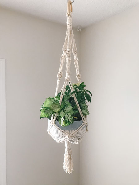 macrame plant hanger, christmas gift ideas from Vancouver Island