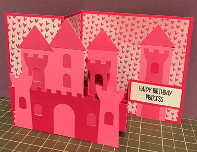 Pop up handmade princess birthday card, locally made product on Vancouver Island by Crafty Island Owl