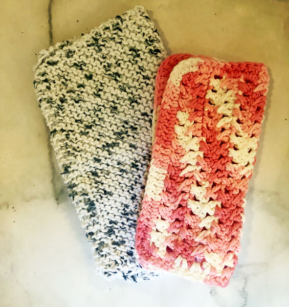 crocheted dishclothes made on Vancouver Island, locally handmade stocking stuffer gift ideas