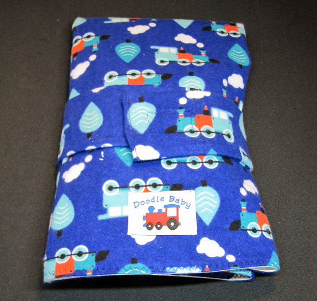 Train pattern cotton travel change pad
