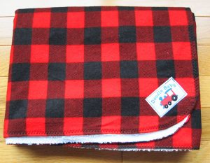 Plaid bed pad, handmade on Vancouver Island in Courtenay B.C. by Doodlebaby