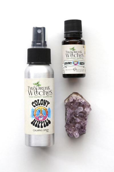 calming spray and essential oil blend, product of canada, made on Vancouver Island BC