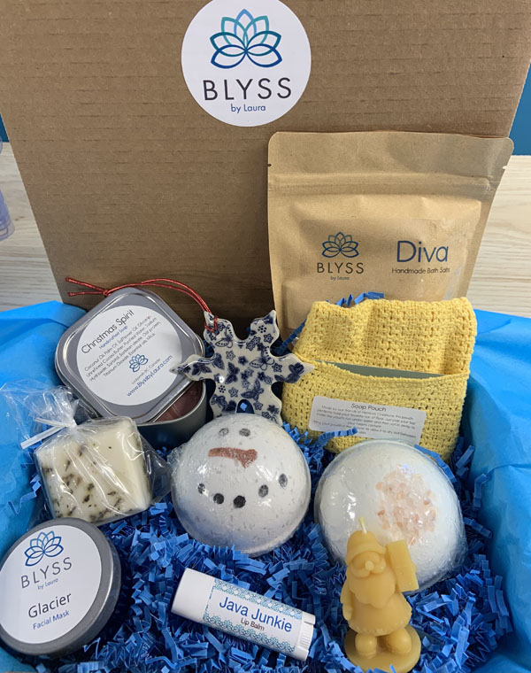 blyss box christmas gift box made on vancouver island