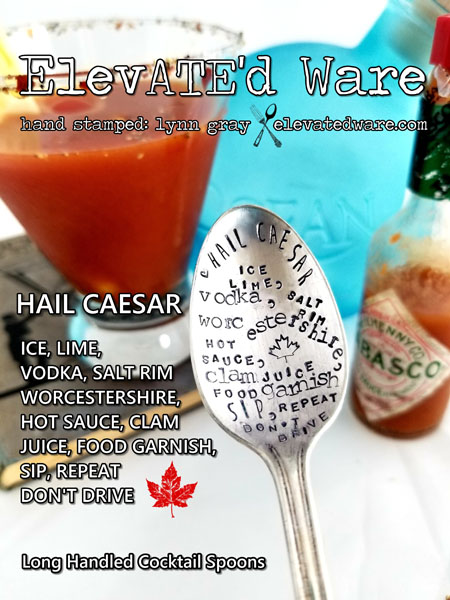 caesar cocktail stirring spoon, fun gift ideas made locally on vancouver island in campbell river