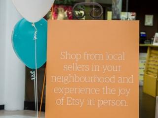 sign at Etsy Nanaimo handmade market, Vancouver Island