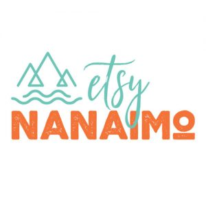 Etsy Nanaimo handmade market logo, Vancouver ISland