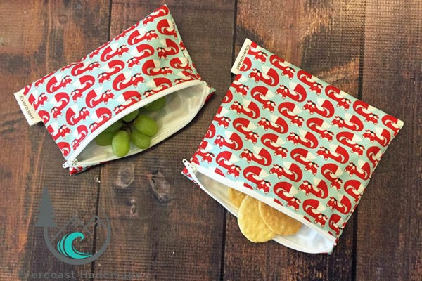 Reusable food storage bags, made on Vancouver Island by Evercoast Handmade