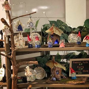 Collection of fairies and fairy homes, made on Vancouver Island