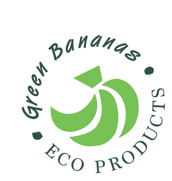 Green Bananas Eco logo, sustainable and eco friendly products made on vancouver island