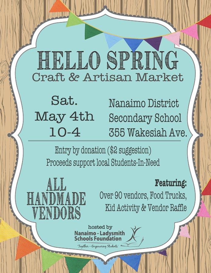 Hello Spring, Vancouver Island craft market in Nanaimo B.C. Canada