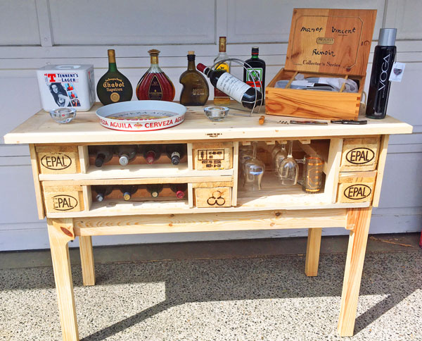 pallet bar, , made by woodworker on Vancouver Island I Used to Be a Pallet