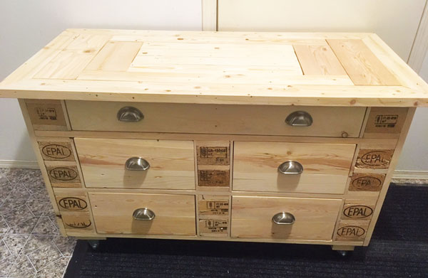 Repurposed Chest of Drawers, made by woodworker on Vancouver Island I Used to Be a Pallet