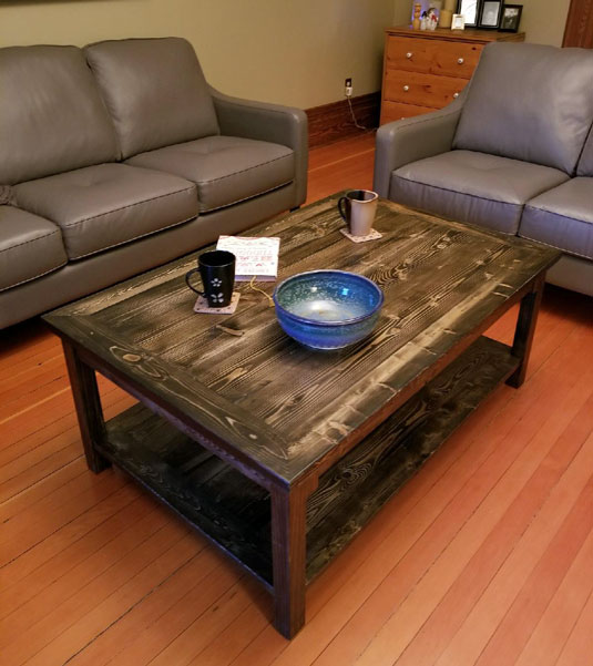 Repurposed Coffee Table, made on Vancouver Island in Victoria by I Used to Be a Pallet