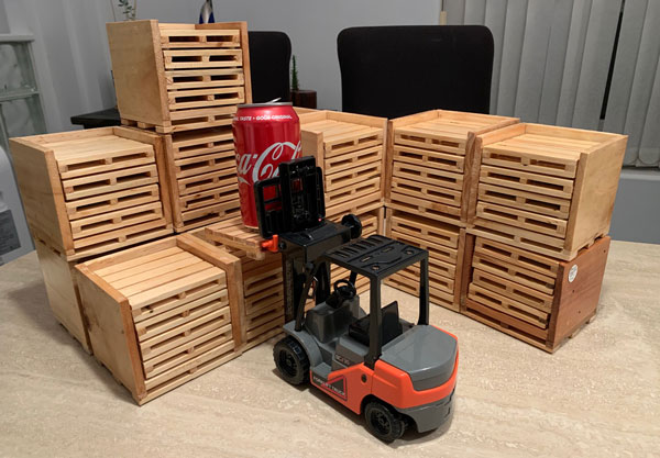 Repurposed Pallet Coasters, made by woodworker on Vancouver Island I Used to Be a Pallet