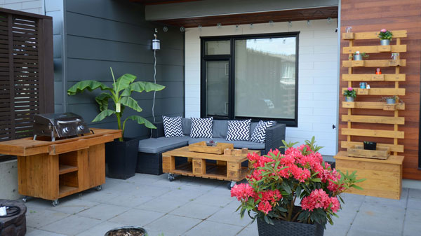 Repurposed Patio Furniture made from pallets, made by woodworker on Vancouver Island I Used to Be a Pallet