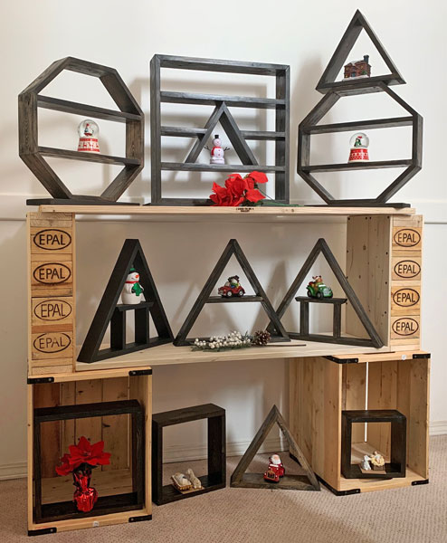 geometric shelves made on Vancouver Island in Victoria by I Used to Be a Pallet