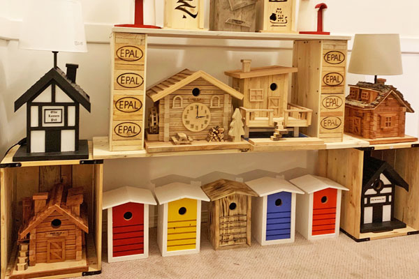 Repurosed birdhouses, made on Vancouver Island in Victoria by I Used to Be a Pallet