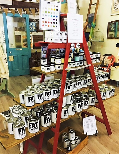 Fat Paint display in Campbell River store French Creek Collective