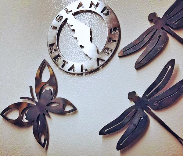 Island Metal Works logo, locally made Vancouver Island metalwork