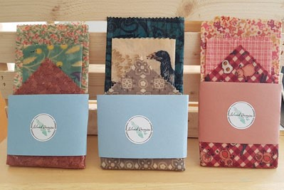Handmade eco-friendly saran wrap alternatives, Beeswax wraps, made on Vancouver Island