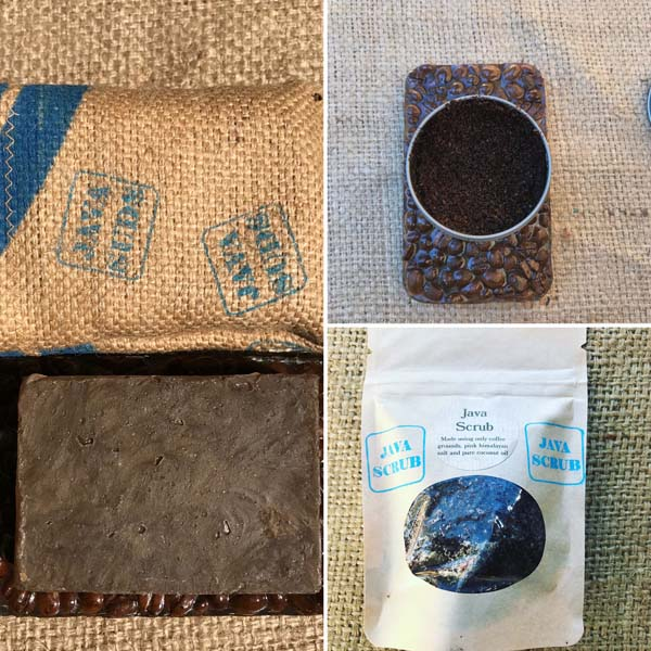 hand crafted coffee scrub and soap made by Island Java Bag