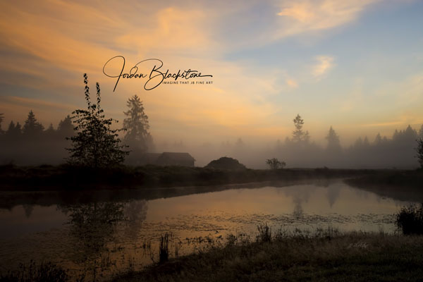image of fog over pond at dawn by Jordan Blackstone of Imagine That