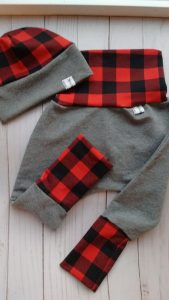 Plaid baby pants and hat, Vancouver Island made product