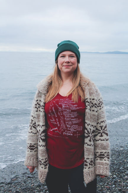 bamboo Vancouver Island t-shirt made in Canada by Kindred Coast