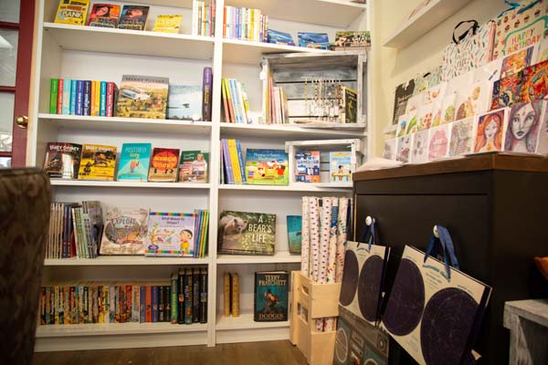 books on display at Vancouver Island children's store Little Village Store in Cumberland