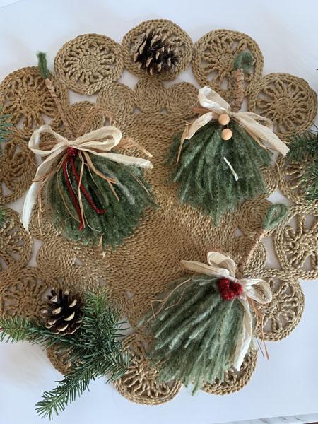 ponderosa pine christmas tree ornaments handmade on vancouver island by little wren