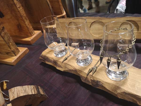 Whisky serving tray made by Vancouver Island woodworker Longview woodworks