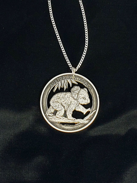 Australian coin pendant, made on Vancouver Island in Victoria Canada by Lost Things
