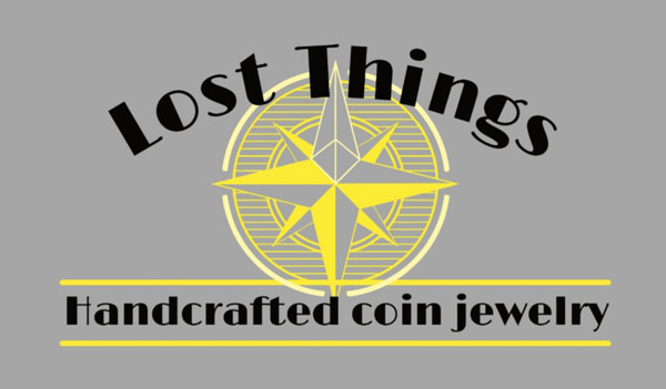 Lost Things Coin Rings logo, Coin Jewelry made on Vancouver Island B.C. in Victoria