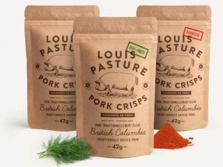 Dill, BBQ, and Plain Natural Pork Crisps locally handmade in Errington on Vancouver Island by Louis Pasture on Vancouver Island