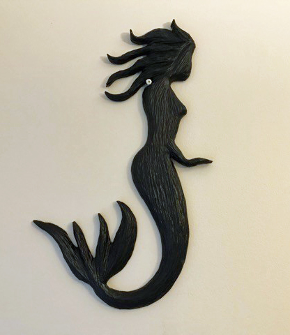 mermaid carving by Vancouver Island Nanaimo woodworker West Coast Wood Creations