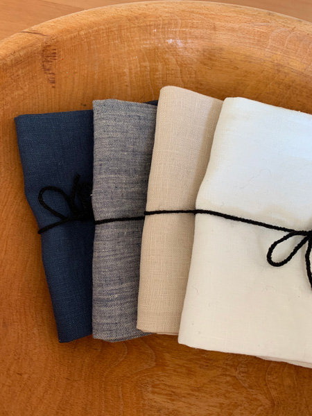 linen tea towels made in Canada on Vancouver Island