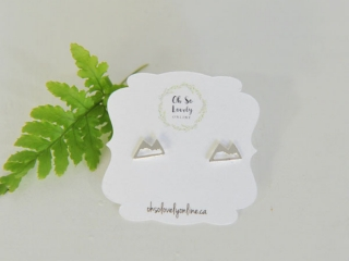 Silver mountain earings handmade in Parksville BC on Vancouver island by Oh So Lovely