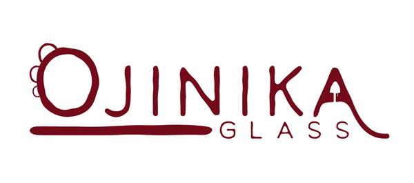 Ojinika glass logo, Flameworking/Lampworking blown glass studio on Saltspring Island B.C. Canada