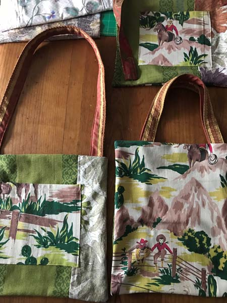 upcycled bags sewn on Vancouver Island by Prim Stargazer in Qualicum Beach