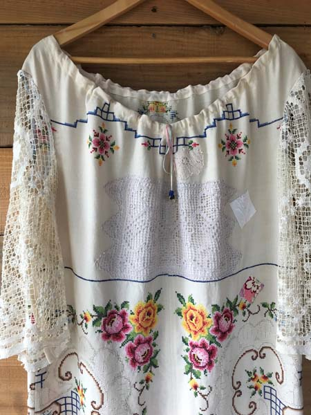 upcycled embroidered shirt, made by Vancouver Island sewer Prim Startgazer